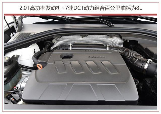 新车亮点: 1、换装了全新黑底的哈弗LOGO 2、配备了全新样式12.3寸仪表盘 3、搭载全新7速湿式双离合变速箱 4、2.0T高功率发动机+7速DCT动力组合百公里油耗为8L 外观方面